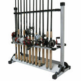 24-Rack Portable Aluminum Fishing Rod Holder - Holds 24 Rods!