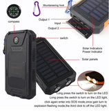 Solar Battery Dual Power-Bank CHARGER for SMARTPHONES - WaterProof w/ Built-in Lights & Compass - Thirsty Buyer - 4