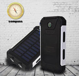 Solar Battery Dual Power-Bank CHARGER for SMARTPHONES - WaterProof w/ Built-in Lights & Compass - Thirsty Buyer - 3