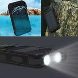 Solar Battery Dual Power-Bank CHARGER for SMARTPHONES - WaterProof w/ Built-in Lights & Compass - Thirsty Buyer - 5