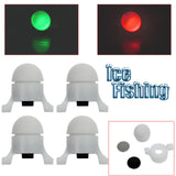 "ICE FISHING LED Bite Alarm ""Perfect Fit"" Strike Tip Lights - 4 Pack"