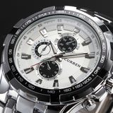 Men's Stainless Steel Luxury Fashion Quartz Watch - White -  - 1