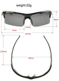 Professional Polarized Cycling/Athletics SunGlasses (Swiss Technology) - Black -  - 4
