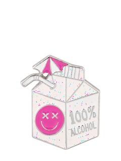 100% Alcohol Enamel Pin