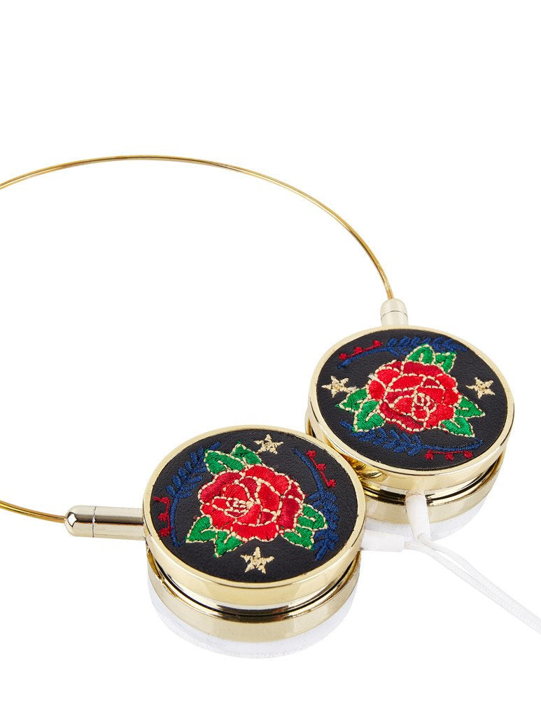 Black Rose Headphones