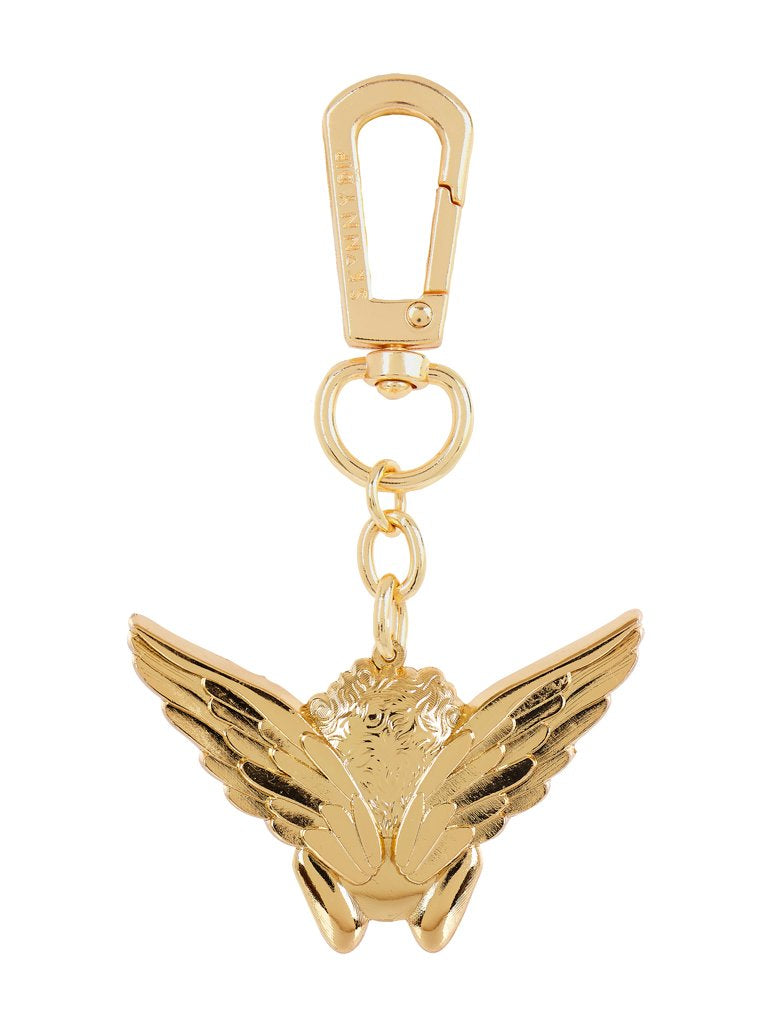 Gold Cherub Key Charm