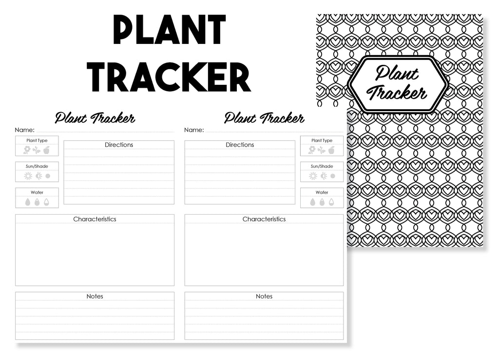 Plant Tracker Traveler's Notebook Insert