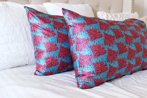 African Print Satin Beauty Pillowcases - Nkeoma