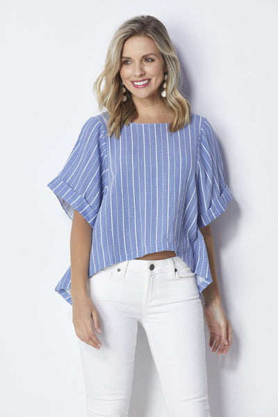 Bishop + Young Flowy Slit Back Top - Front