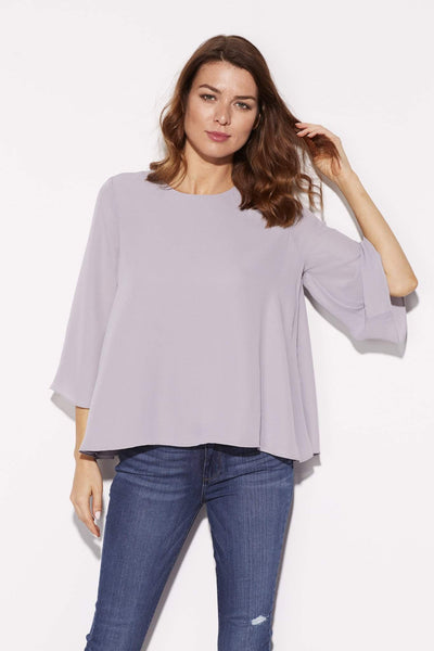 Lavender 3/4 Wide Sleeve Top