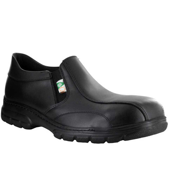 """MELLOW WALK"" Men's Quentin (Metal Free) Slip On, Electric Shock Resistant Work Shoe"