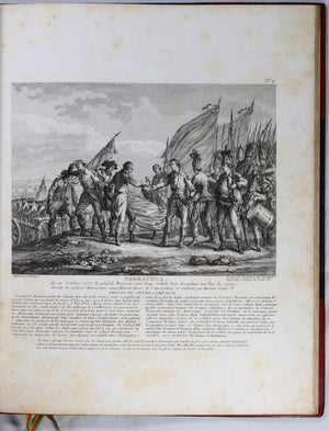1784 Ponce & Godefroy book of prints depicting US War of Independence
