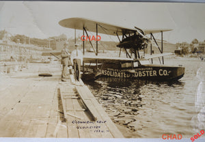 1934 photo Consolidated Lobster Co. MA. Loening flying boat #1