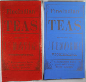 Fine Indian Teas - two advertising pieces (1800s)