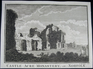 Print 'Castle Acre Monastery, in Norfolk'  @1790