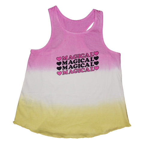 Magical Tie Dye Graphic Print Racerback Tank - Ice Cream Castles Kids