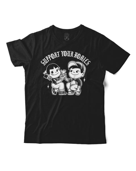 T shirt: Support Kids sizes, Black