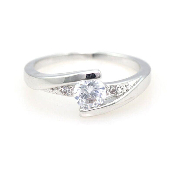 Twist Setting Crystal Ring