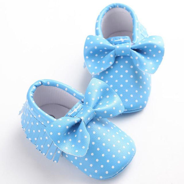 Baby Dotted Moccasins