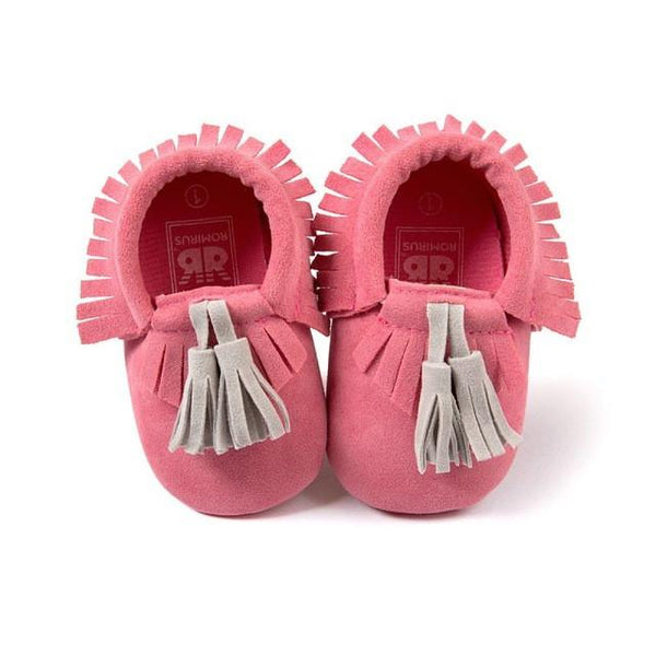 Baby Striped Moccasins