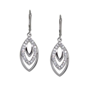 Sterling Silver Tiered Leaf Earrings