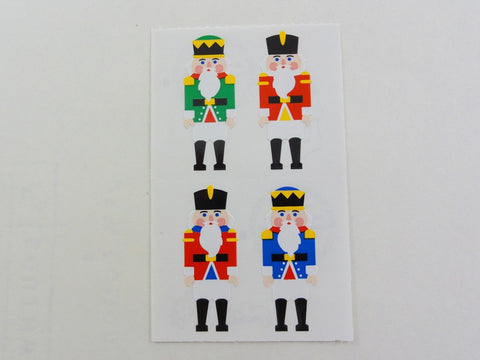 Mrs Grossman Christmas Nutcrackers Toy Soldiers Sticker Sheet / Module - Vintage & Collectible 1993
