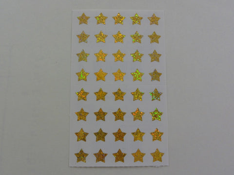 Mrs Grossman Gold Stars micro Sticker Sheet / Module - Vintage & Collectible 1996