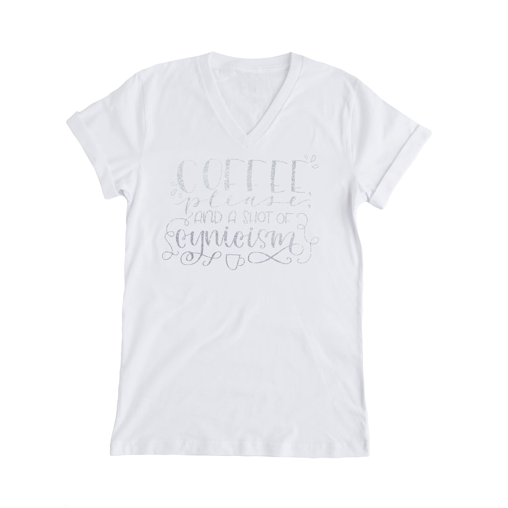 Coffee Please - With A Shot of Cynicism Gilmore Girls Tee