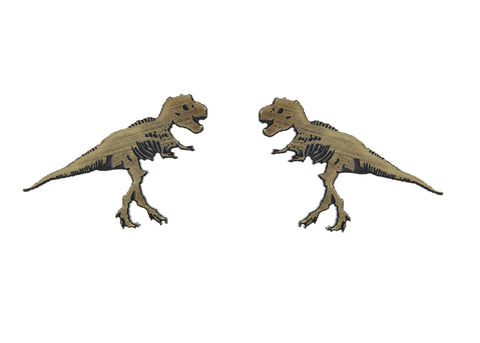 T-ReX-Ray Earrings in Gold/Black