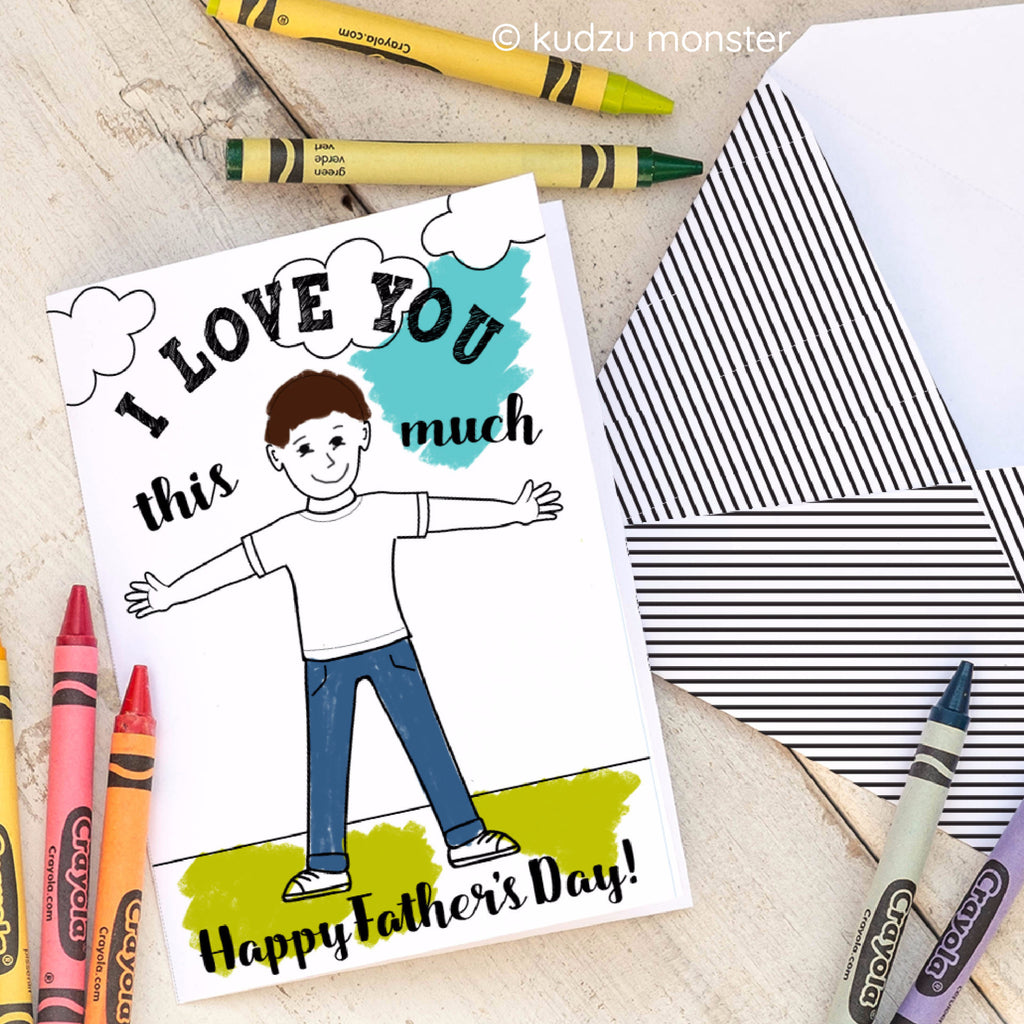 Father's Day Coloring Card