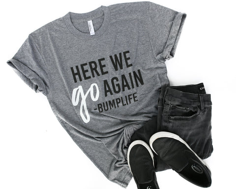 Be A Buddy Heather Grey + Matte Black Ink Adult Crew Neck Tee