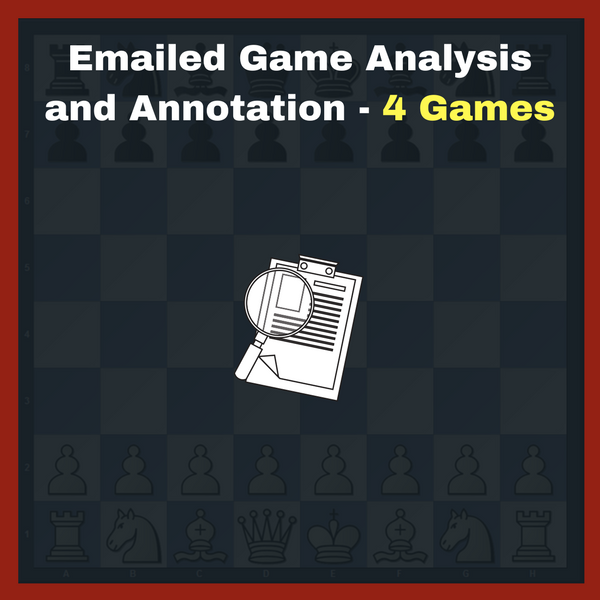 Emailed Chess Game Analysis By Coach - 4 Games