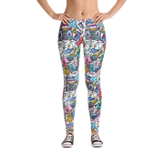 Funky Culture Pattern Print Leggings - Devious Elements Apparel
