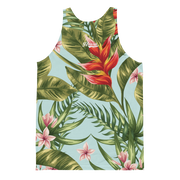 Hialeah Raised Dále Tropical Floral All Over Print Tank - Devious Elements Apparel