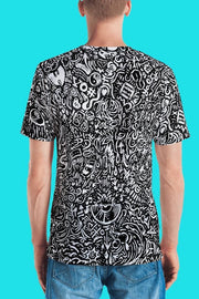 Devious Doodle All-Over-Print Unisex Cut & Sew Crew - Devious Elements Apparel