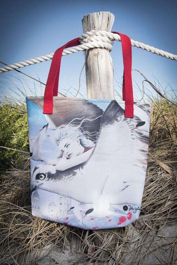 Flight Between Dreams Print Tote Bag - Devious Elements Apparel