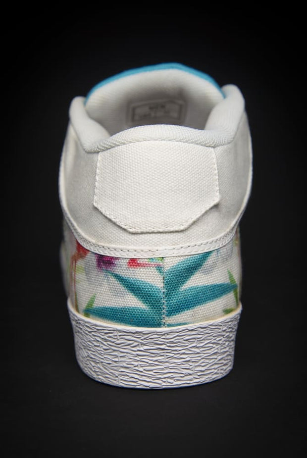 Loyalty Flamingo Watercolor Canvas Mid Top Ladies Sneaker - Devious Elements Apparel