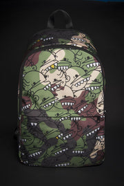 Goop Heads Camo Pattern Print Laptop Backpack - Devious Elements Apparel