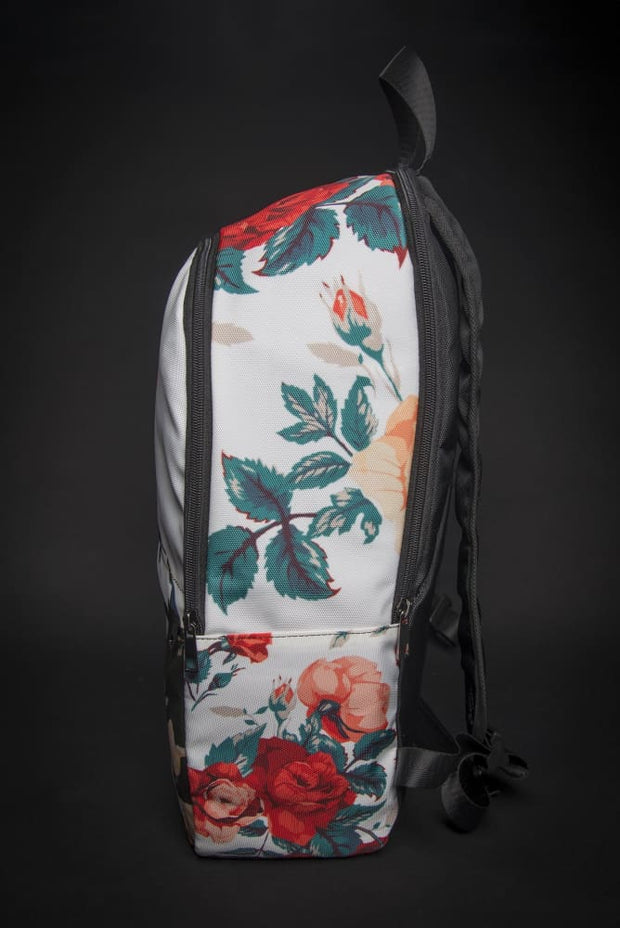 Basquiat Floral Print Laptop Backpack - Devious Elements Apparel