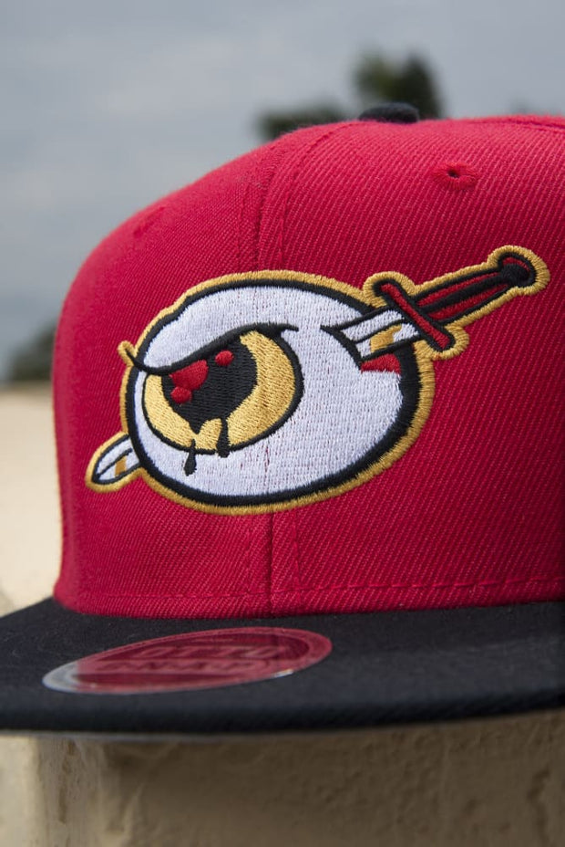 Third Eye Thrashers Red Snapback Hat - Devious Elements Apparel
