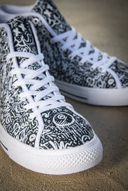 Devious Doodle Print Ladies Canvas High Top Sneaker - Devious Elements Apparel