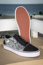 Devious Doodle Print Ladies Low Top Skate Sneaker - Devious Elements Apparel