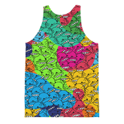 Goop Heads Rainbow Camo Pattern Cut-&-Sew Unisex Tank - Devious Elements Apparel