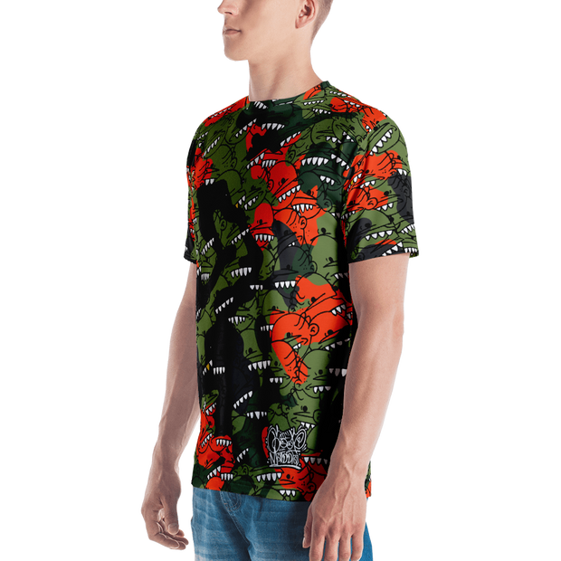 Goop Head Camo Pattern All Over Print Cut & Unisex Crew T-shirt - Devious Elements Apparel
