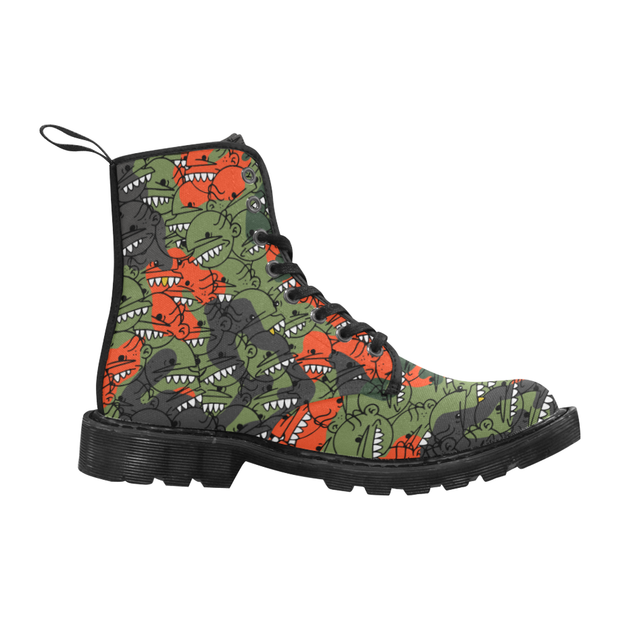Goop Heads Camo Pattern Canvas Ladies Boots - Devious Elements Apparel