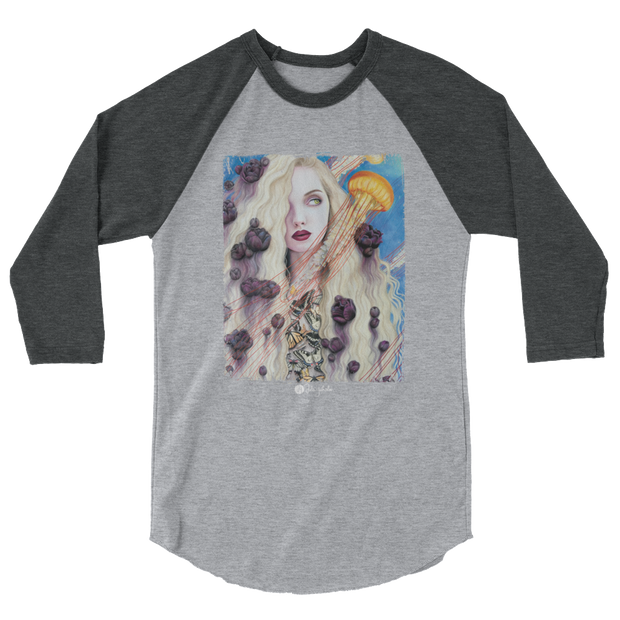 Curious Dreams 3/4 Sleeve Unisex Crew T-shirt - Devious Elements Apparel