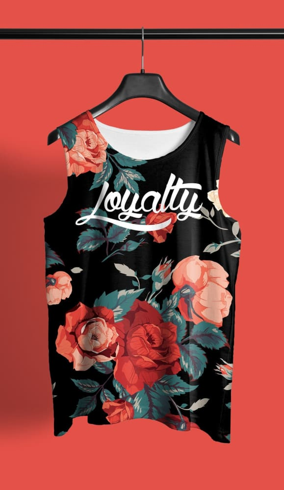 Loyalty Floral Rose All Over Print Tank - Devious Elements Apparel
