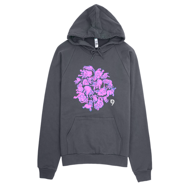 Pink Elephants Pullover Hoodie - Devious Elements Apparel