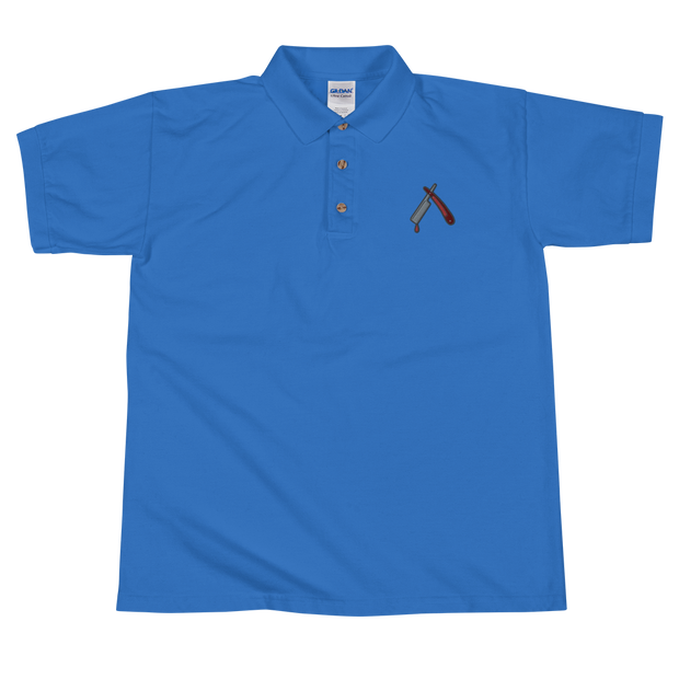 Straight Razor Embroidered Polo Shirt - Devious Elements Apparel