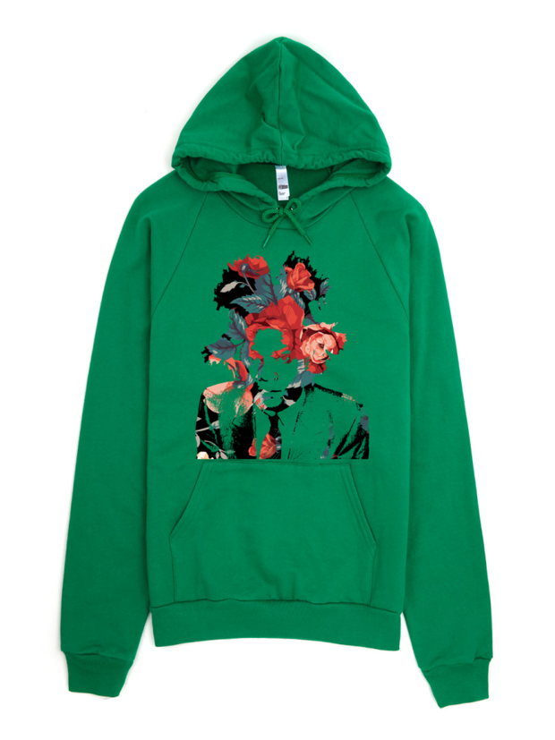 Basquiat Floral Print Pullover Hoodie - Devious Elements Apparel